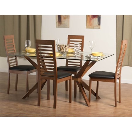 Greenwich Dining Table Set With Denver Chairs In Cherry Walmart Amazing Dining Room Furniture Denver