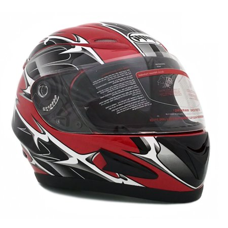 Motorcycle Helmet Spike (MMG 118S Spikes Red (XXL) - Motorcycle Full Face Helmet Flip-Up Shield DOT Street Legal Comes with two shields, Clear Shield and a Spare Smoked)
