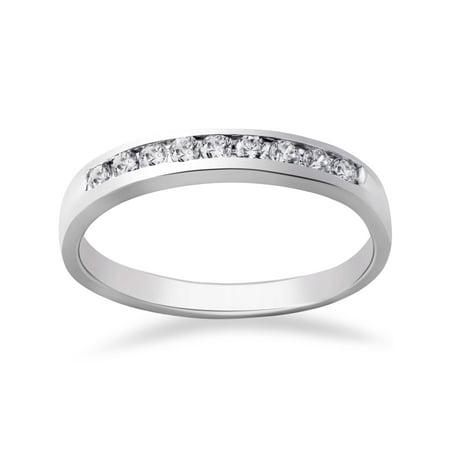 1/4ct Diamond Wedding 14k White Gold Stackable Channel Set Ring High (Stackable Wedding Ring Set)