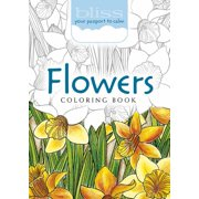 Bliss Flowers Coloring Book : Your Passport to Calm
