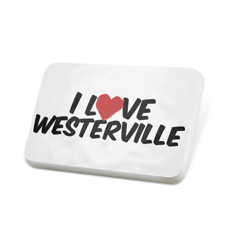 Porcelein Pin I Love Westerville Lapel Badge – NEONBLOND