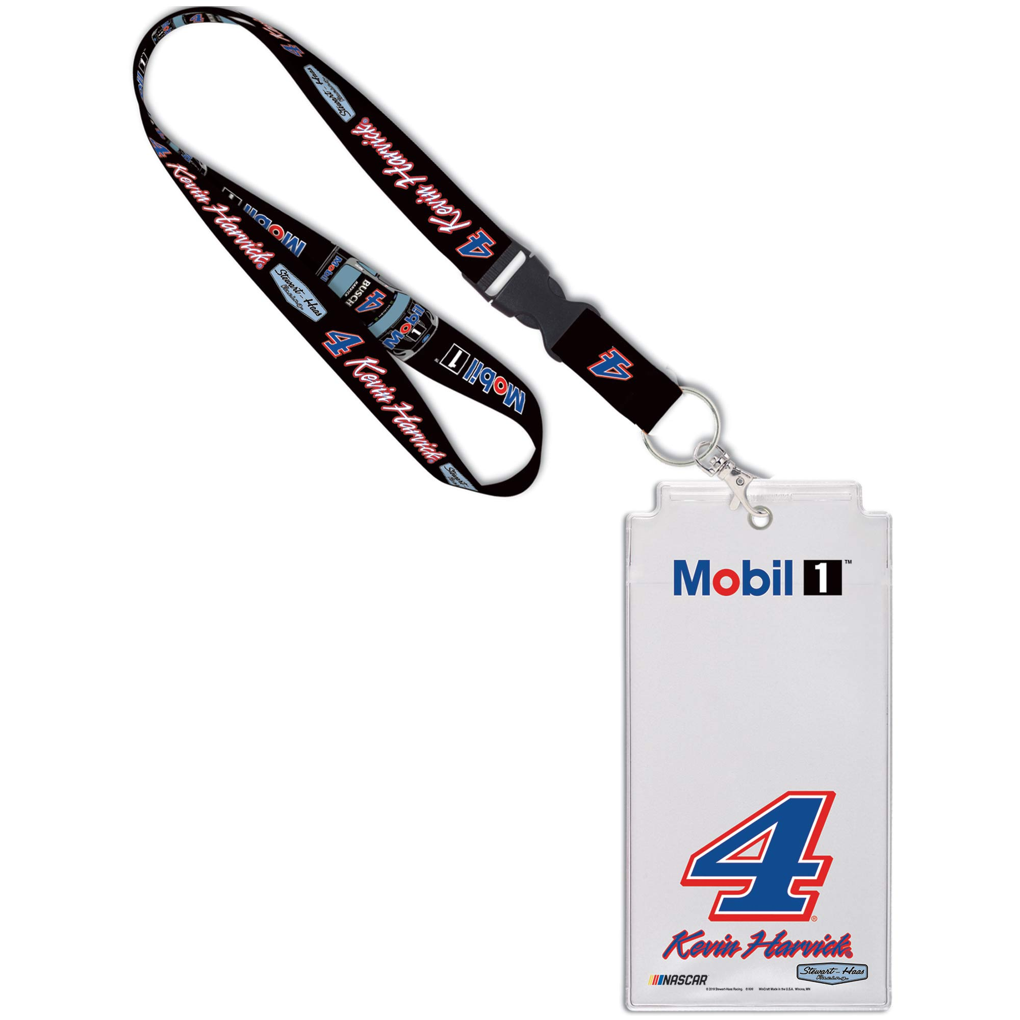Kevin Harvick WinCraft Mobil 1 Driver Name & Number Credential Holder - No Size