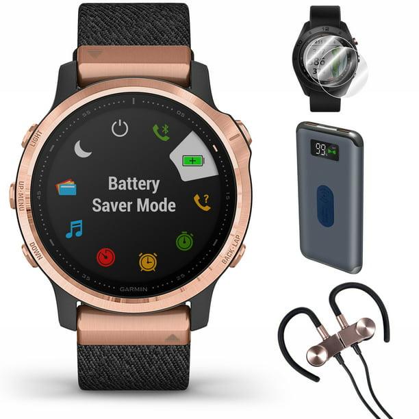 Garmin fenix 6S Sapphire GPS Smartwatch (010-02159-36) + Wireless Sport Earbuds & More