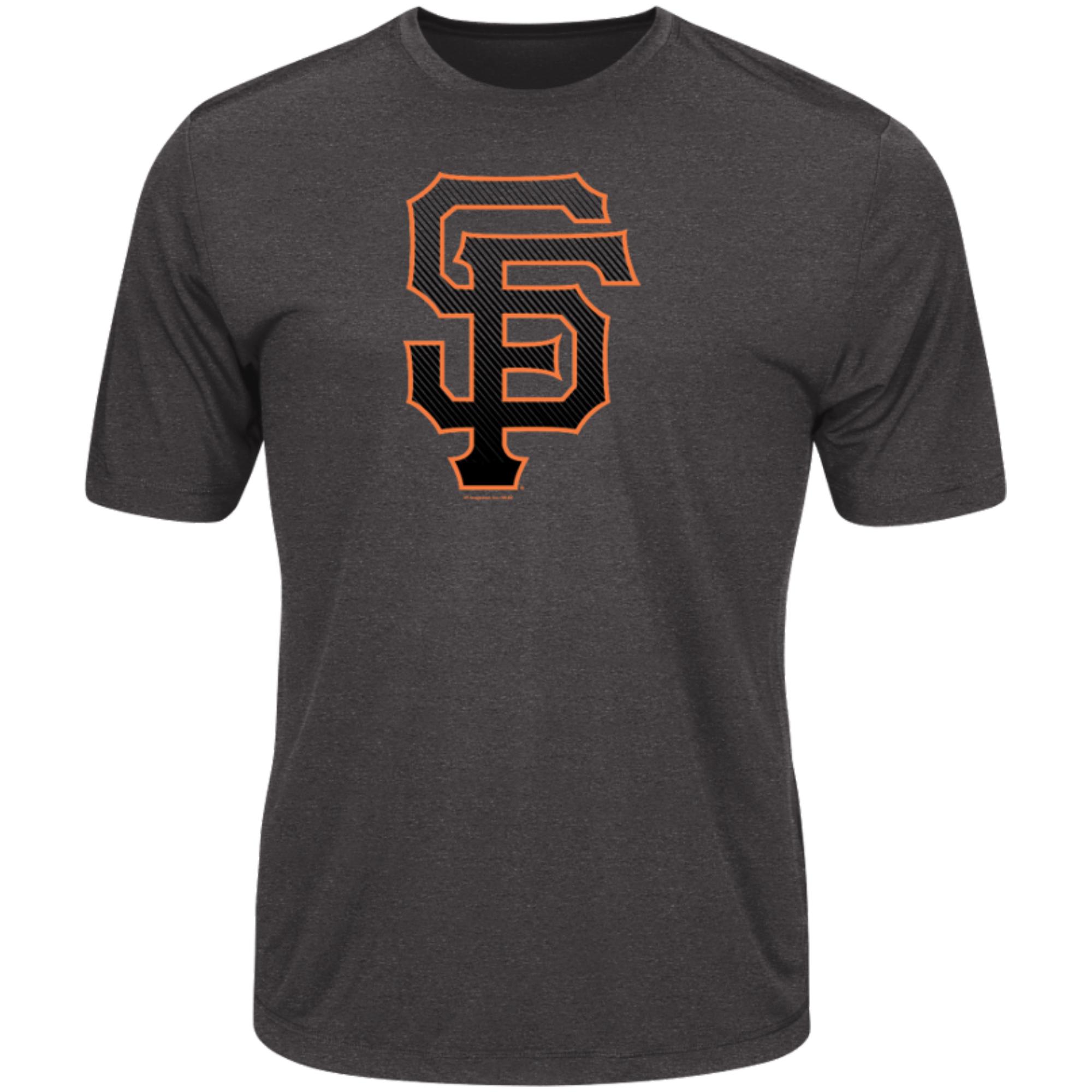 Men's Majestic Heathered Charcoal San Francisco Giants Logo Statement T-Shirt