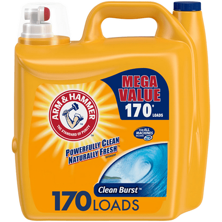 Arm & Hammer Clean Burst Liquid Laundry Detergent, 170 loads Soap Nuts Laundry Liquid