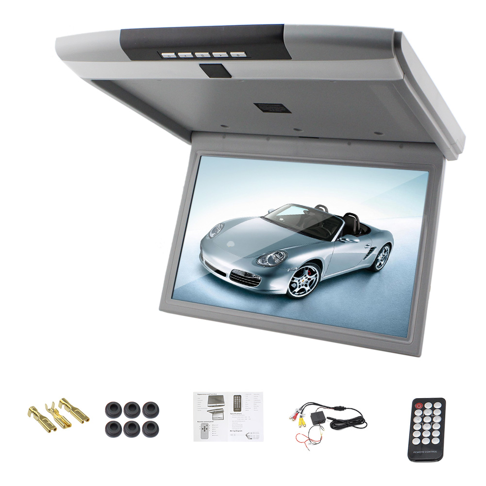 universal overhead flip down car tv tft monitor mounts 15 inch led digital screen car roof mounted digital screen monitor car video player walmartcom