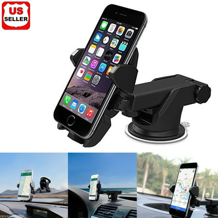 Gps Windshield Mount (360° Universal Car Windshield Mount Stand Holder for iPhone Moblie Phone GPS)
