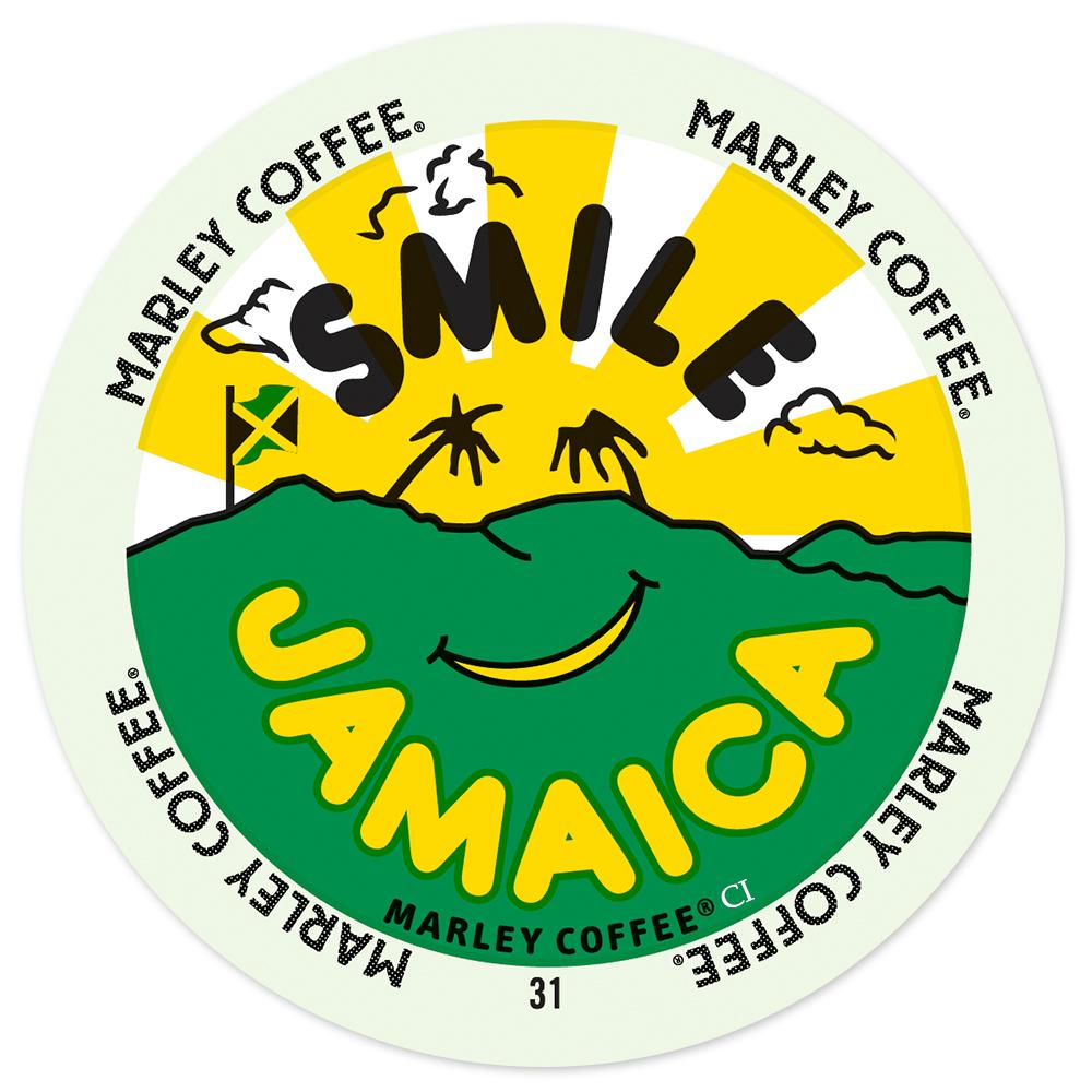 Marley Coffee Smile Jamaica Blend, RealCup portion pack for Keurig K-Cup Brewers, 24 Count