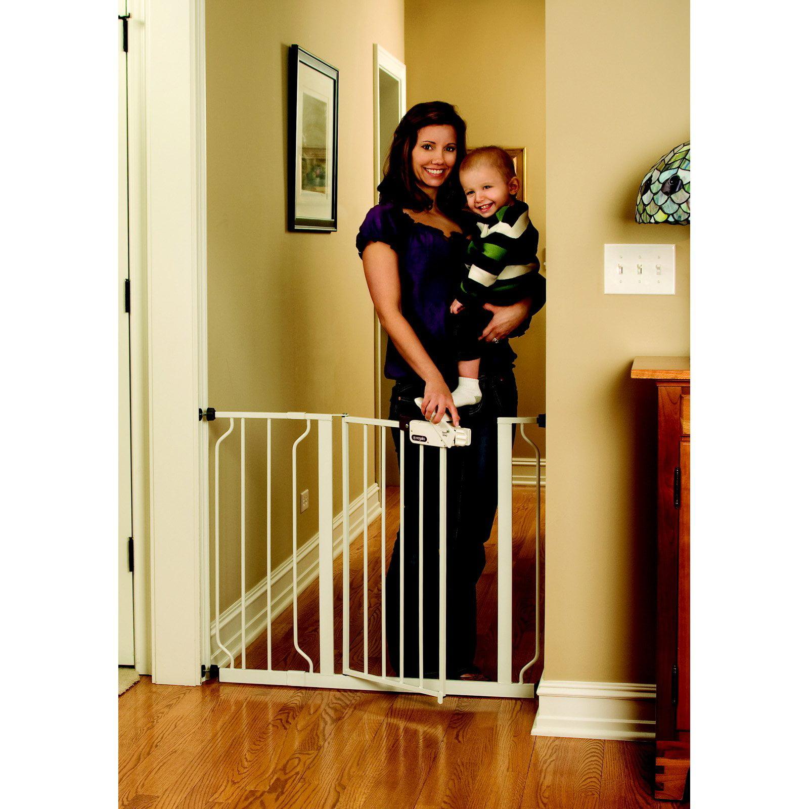 Perfect Regalo Easy Step Extra Wide Metal Walk Through Safety Gate   Walmart.com