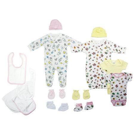 Bambini Newborn Baby Shower Layette Gift Set, 11pc (Baby Girls) - Idee Costumi Halloween Bambini