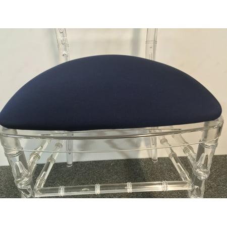 Banquet Tables Pro 100 Pack Navy Blue Spandex Cushion Covers For Hard Chiavari Cushions