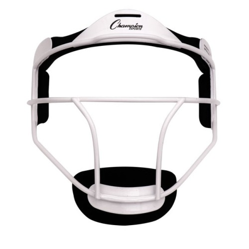 Softball Fielder's Face Mask in White (Youth 6.38 in. L x 5.25 in. W x 7.25 in. H) by Champion Sports