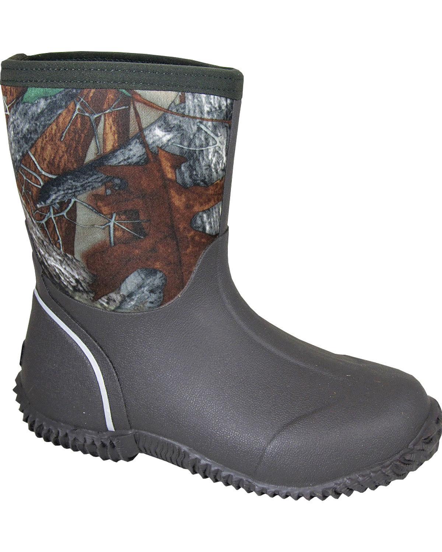 Smoky Mountain Boys' Amphibian Camo Waterproof Boot - 2736C