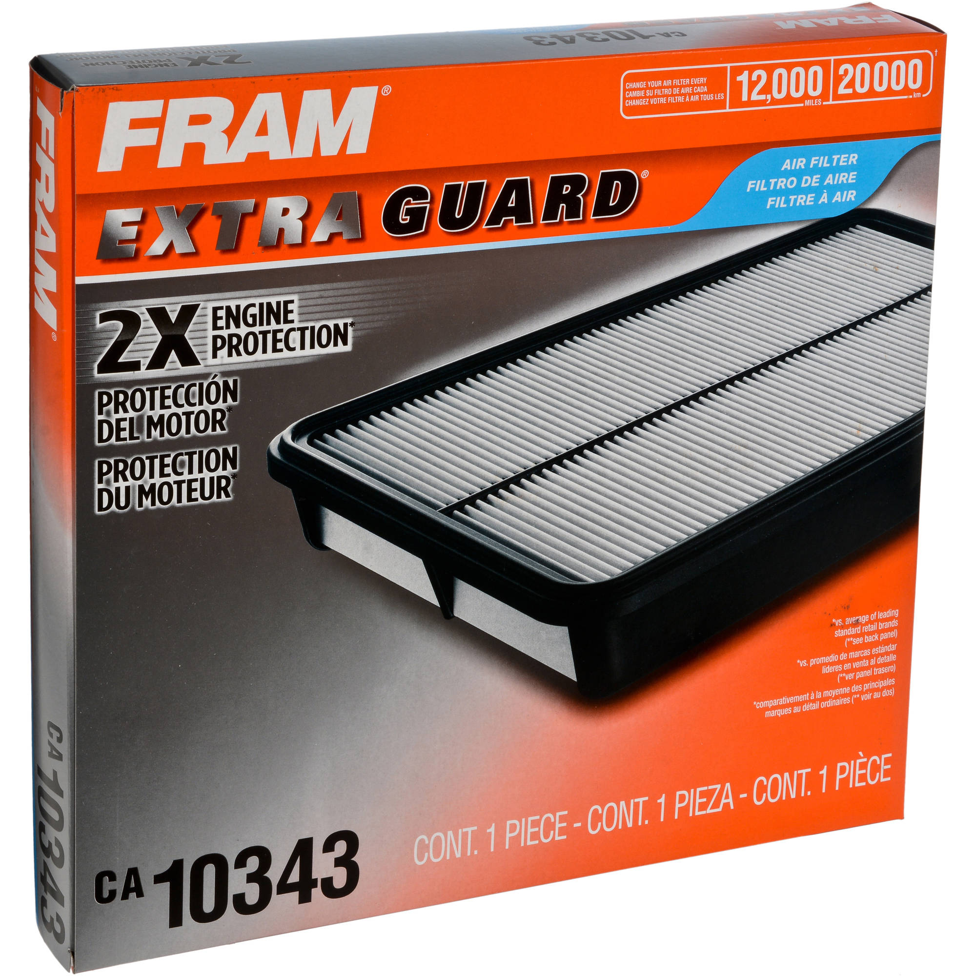 FRAM Extra Guard Air Filter, CA10343