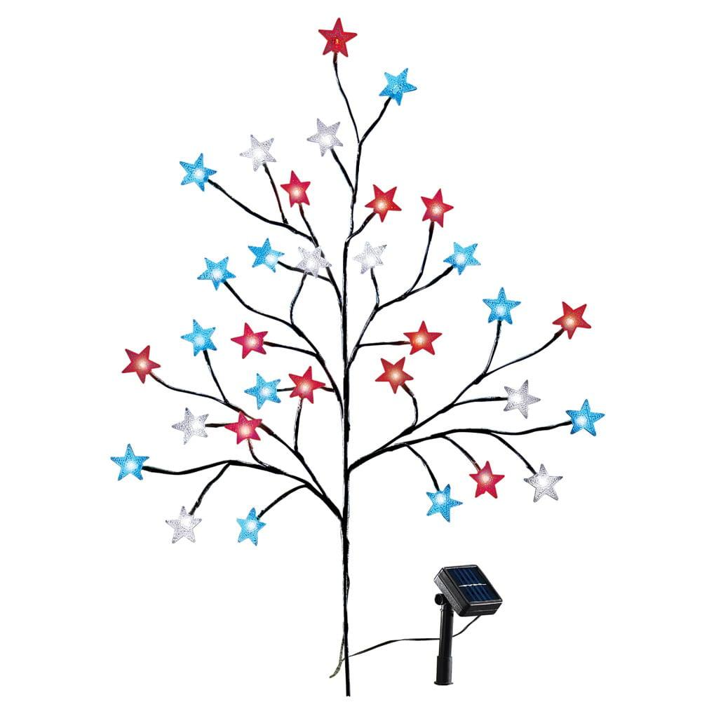 Solar Patriotic Star Tree Multi
