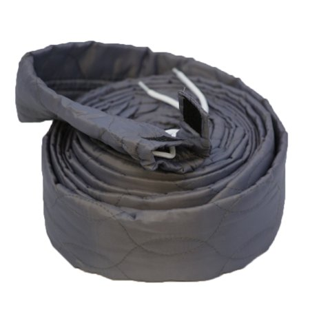 30ft Central Vacuum Cleaners All Models Zippered Hose Sock Cover Grey Padded ()