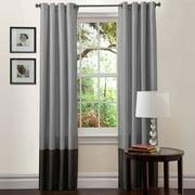 "Prima Silver/Black Window Curtains, Pair, 54"" x 84"""