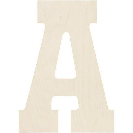 Elongated Number - Baltic Birch Collegiate Font Letters & Numbers, 13.5