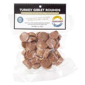 Fresh Is Best Freeze-Dried Raw Turkey Giblet Treats for Dogs and