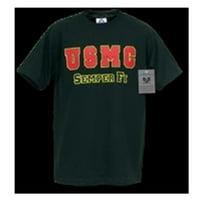 S25-USM-BLK-05 Classic Military T-Shirt, USMC, Black, 2X