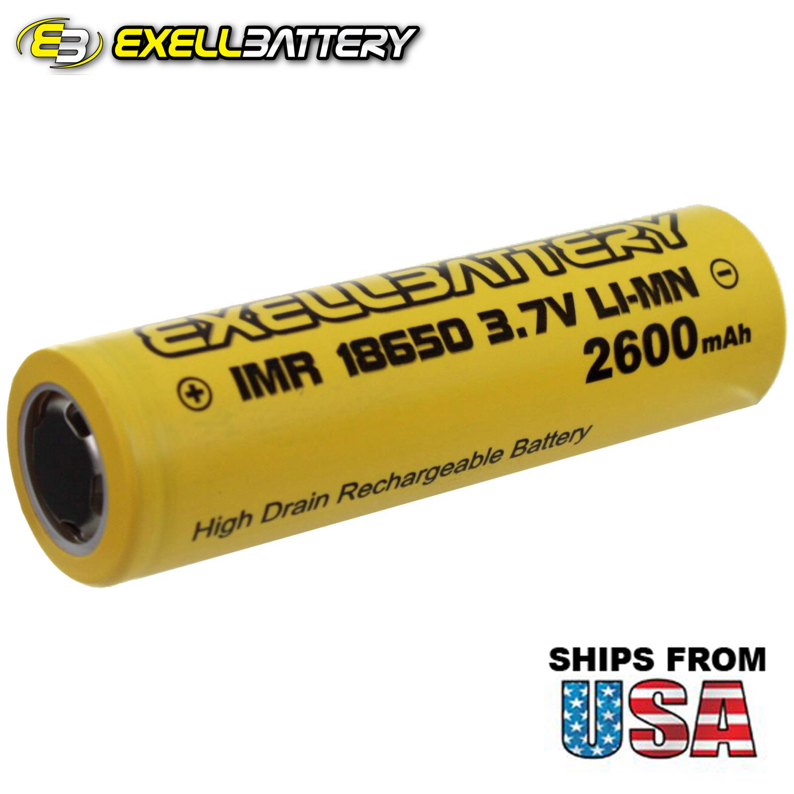 IMR 18650 3.7V Li-Ion (LiMN) 2600mAh Rechargeable Battery Mod Vape Flashlights