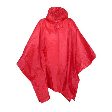 Yellow Rain Poncho (Size one sizeOne Size Vinyl Hooded Rain)