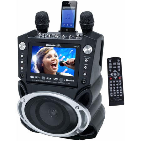 Karaoke DVD/CD+G/MP3+G Bluetooth Karaoke System with 7