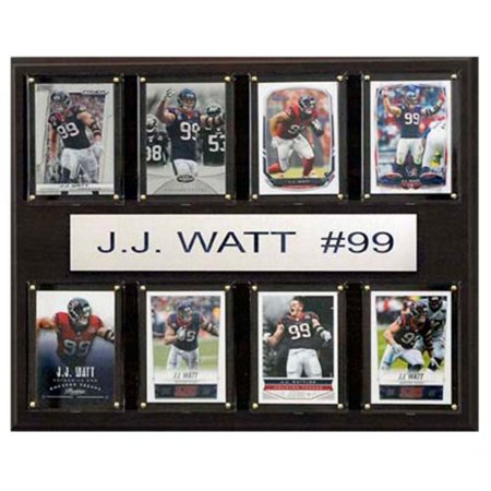 C and I Collectables NFL 15W x 12H in. J.J. Watt Houston Texans 8 Card Plaque