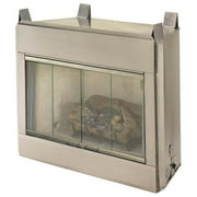 FMI O42NRB 42'' Alpine Outdoor Vent Free Fireplace System - Natural White Stacked Brick Liner