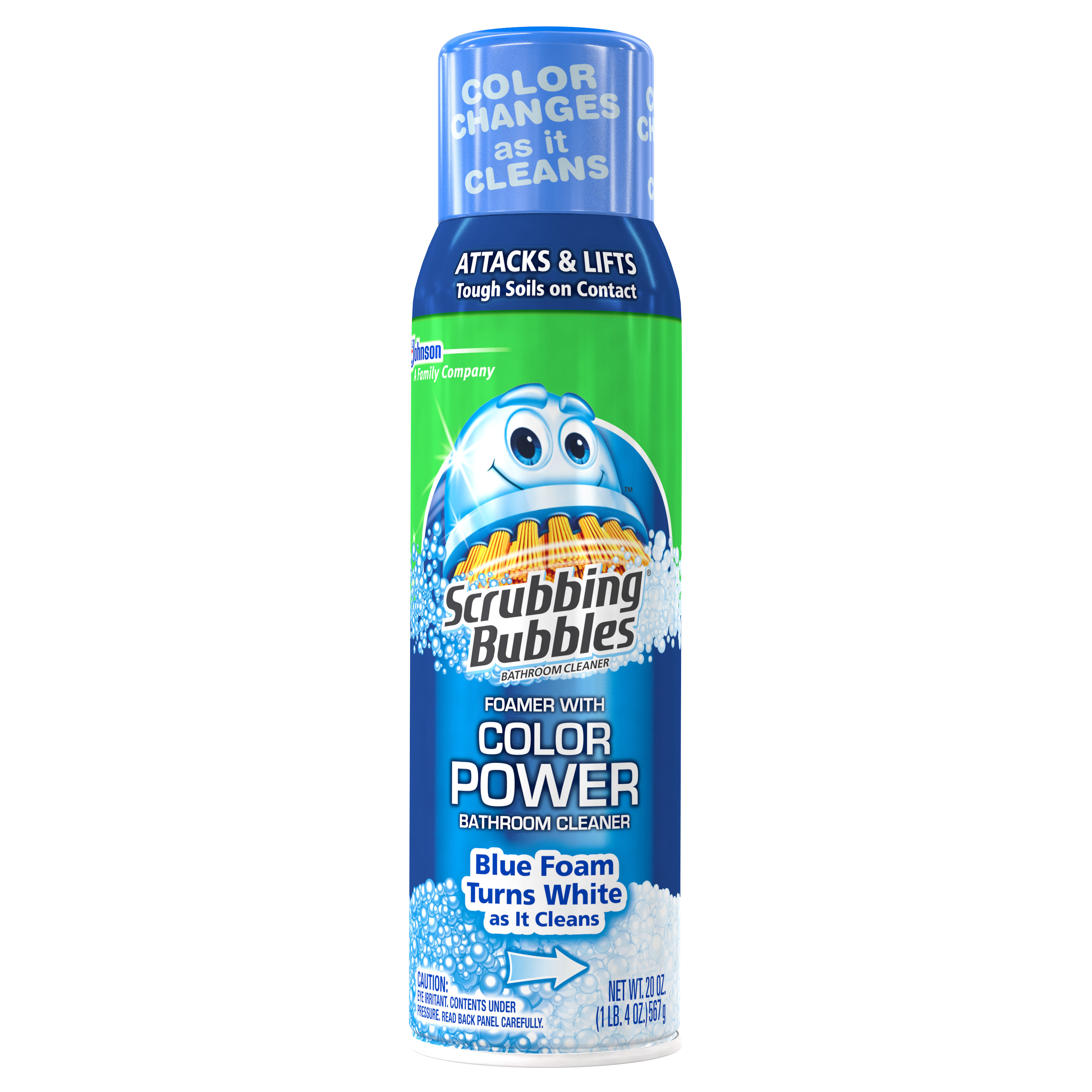 Scrubbing Bubbles Aerosol Bathroom Cleaner with Color Power Technology 20oz