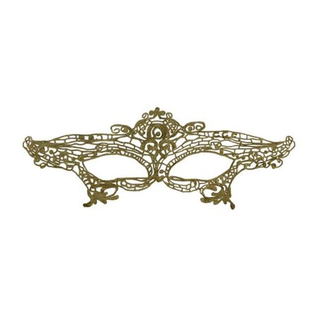 Kayso LL012GD Gold Lace Mask with Satin Ribbons - image 1 of 1