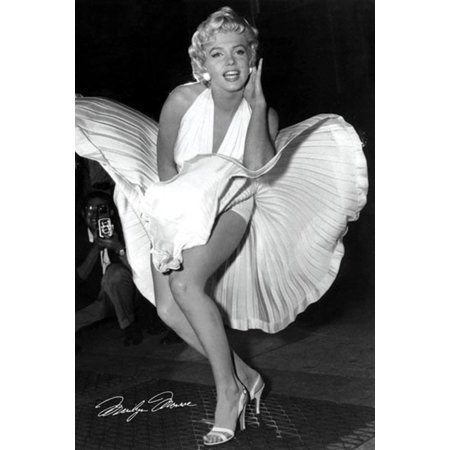 Marilyn Monroe Seven Year Itch Hollywood Glamour Celebrity Actress Icon Photograph Poster - 24x36 inch