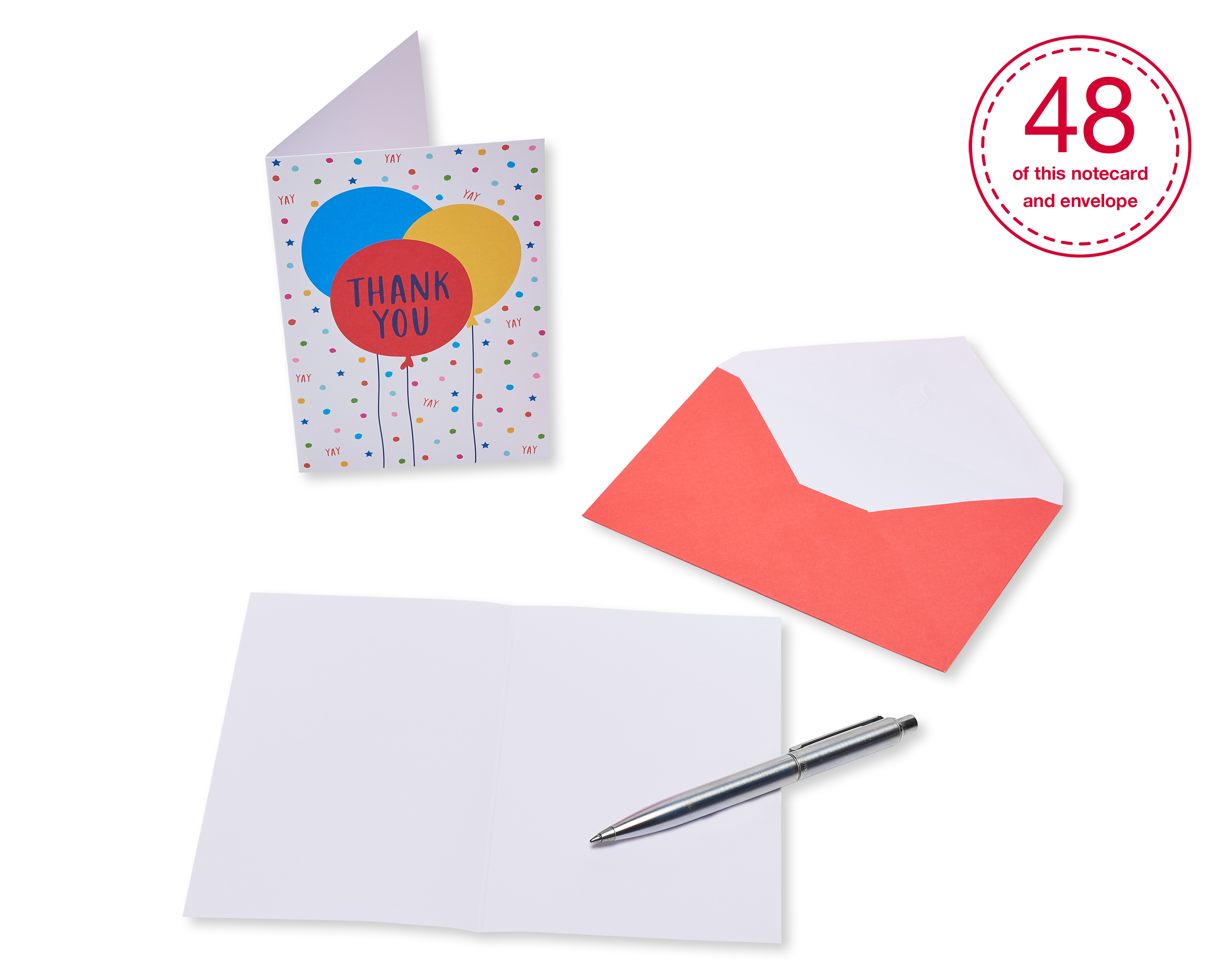 Balloon Thank You American Greetings Bulk Thank You Cards with Envelopes 48-Count Party Balloons 6481758