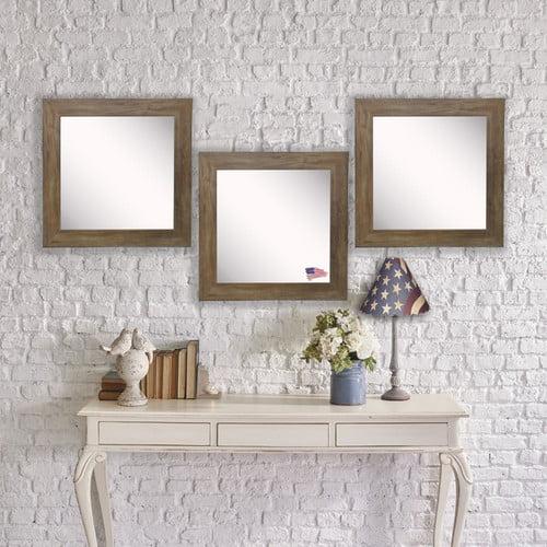 Rayne Mirrors Barnwood Wall Mirror (Set of 3)
