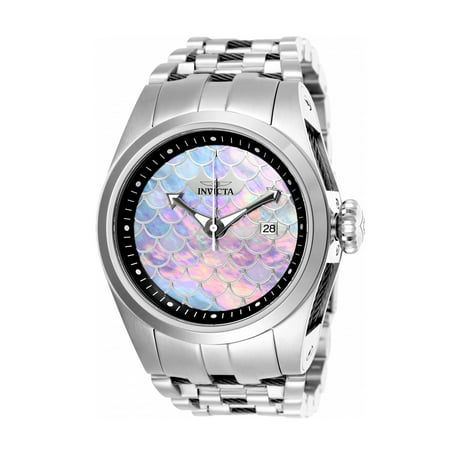 Bolt Black Stainless Steel Band Metal White/Grey Dial Automatic Unisex Watch (Large Automatic Steel White Dial)