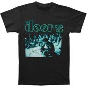 Doors Men's  Sitting On Stage T-shirt Black