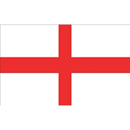 England Flag (St. George's Cross) Sticker Decal ic Size: 3 x 5 inch ()