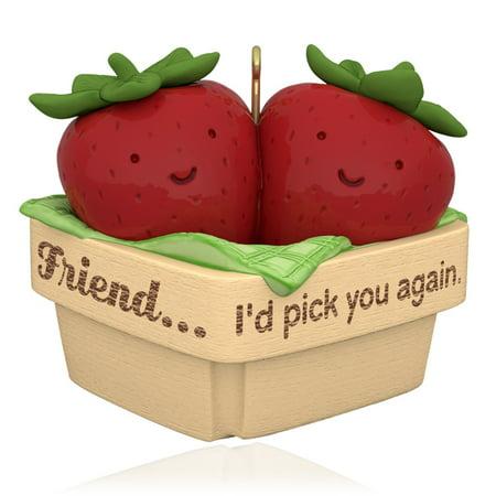 Hallmark Keepsake Ornament: Pick You Again, Friend Strawberries