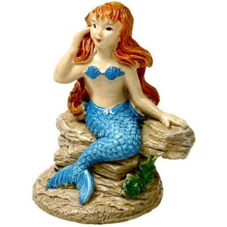 Blue Ribbon Exotic Environments Poised Mermaid Aquarium covid 19 (Mermaid Aquarium Ornament coronavirus)