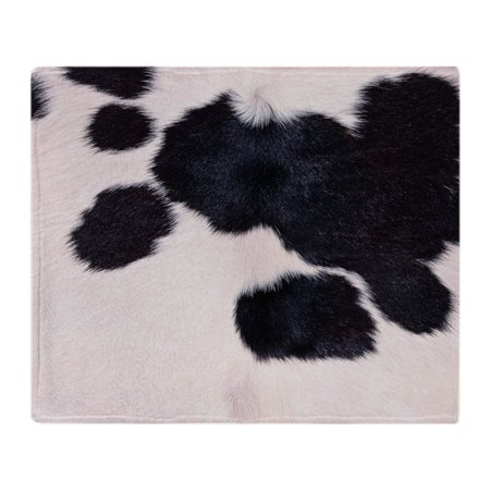 Fleece Picnic Stadium Blanket - CafePress - SPOTTED COW HIDE - Soft Fleece Throw Blanket, 50