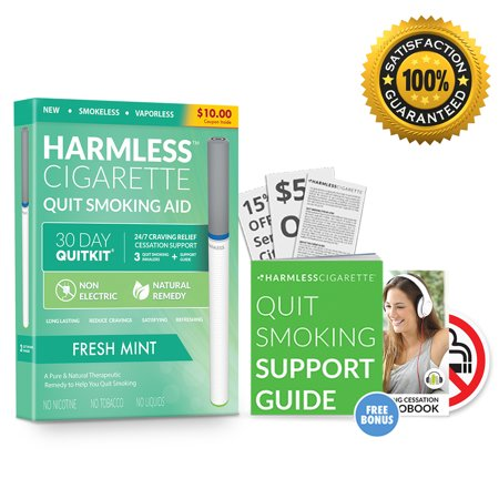 30 Day Quit Kit / Alternative to Nicorette / Stop Smoking Product / Naturally Effective Quit Smoking Aid / Satisfy & Reduce