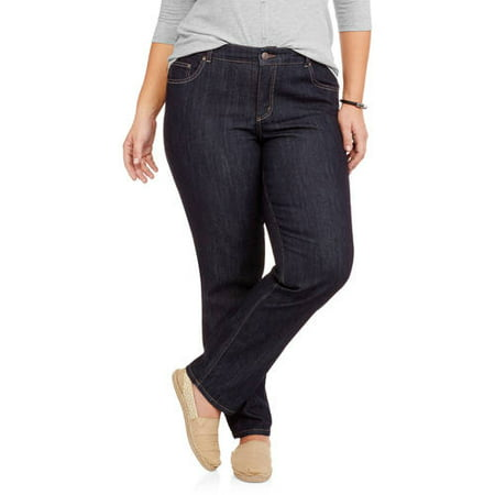 fa738241a01 Just My Size - Women s Plus-Size Slimming Classic Fit Straight-Leg Jeans  With Tummy Control