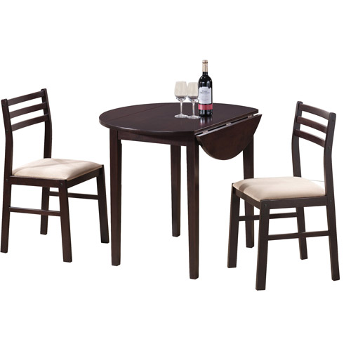 coaster 3-piece breakfast dining set, cappuccino - walmart