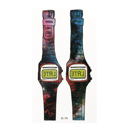 - Unique Bargains Watch Printed Temporary Instant Wrist Transfer Tattoos Sticker Colorful