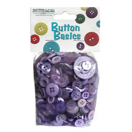 Buttons Galore Big Bag of Colorful Craft & Sewing Buttons - Lavender