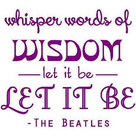 Let It Be BEATLES Music Decal | Song Lyrics Sticker | 20