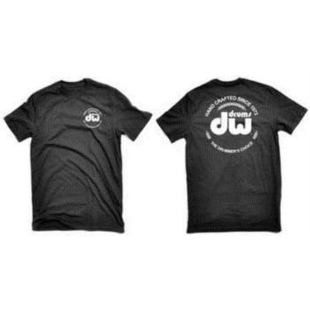 dw drum workshop short sleeve tee, heavy cotton, black with dw  logo, s ()