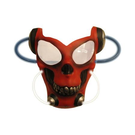 Adult's Red Skull Light Up Alien Costume Accessory Mask](Cheap Alien Mask)