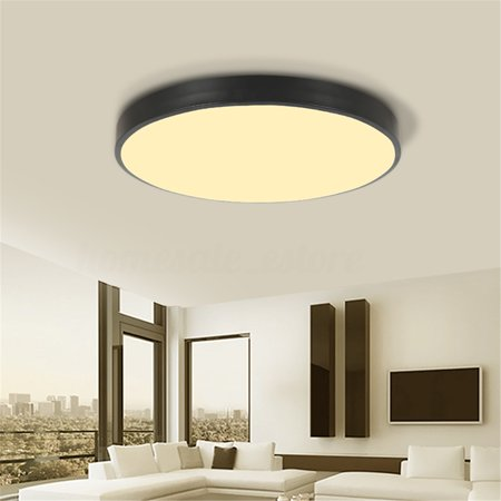 Led Modern Iron Acryl Round Black White Lucky Ring Led Lamp.led Light.ceiling Lights.led Ceiling Light Lights & Lighting Ceiling Lights Ceiling Lamp For Foyer