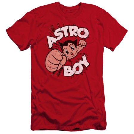 Astro Boy - Flying - Premium Slim Fit Short Sleeve Shirt - Large
